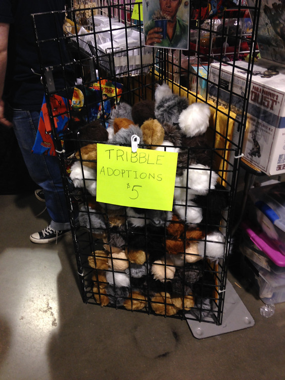 Description of . Tribble adoptions at Geeks with Scissors at Motor City Comic Con in Novi on Friday, May 16.