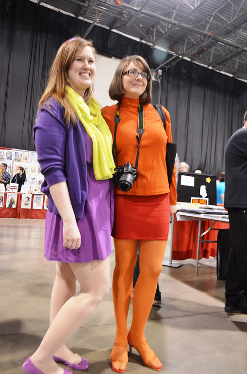 Description of . Images from Friday May 16 at the Motor City Comic Con in Novi, Michigan. Two of the Scooby gang at the #Motorcitycomiccon - Meagan Griffin & Linzy Barr from Bay City  Photo by Dave Herndon.