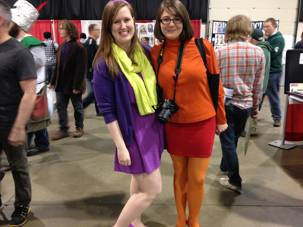 Description of . Images from Friday May 16 at the Motor City Comic Con in Novi, Michigan. Two of the Scooby gang at the #Motorcitycomiccon - Meagan Griffin & Linzy Barr from Bay City
