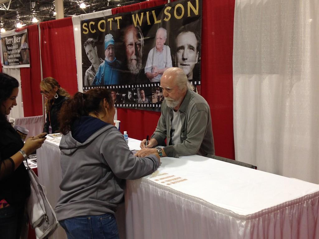 Description of . Scott Wilson from Walking Dead Friday at Motor City Comic Con Friday Nov. 16. Photo by David Komer