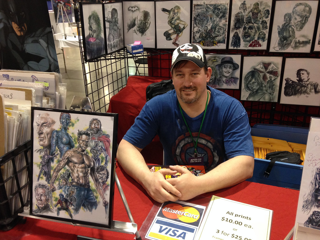 Description of . Artist JIm Demick (Brownstown Township) from Friday May 16 at the Motor City Comic Con in Novi, Michigan.
