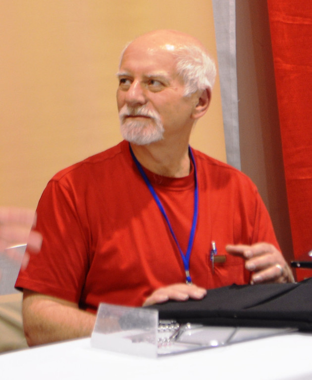 Description of . Legendary Marvel Comics writer Chris Claremont at the 2014 Motor City Comic Con. Photo by Dave Herndon.