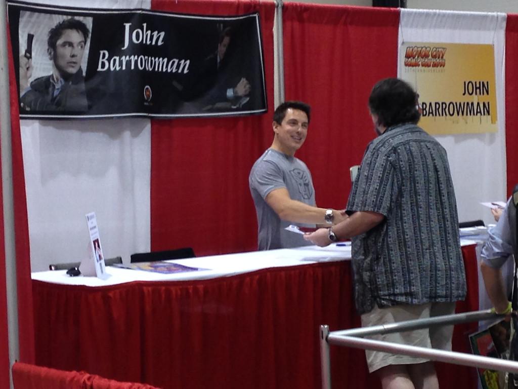 Description of . John Barrowman from Friday May 16 at Motor City Comic Con. Photo by David Komer