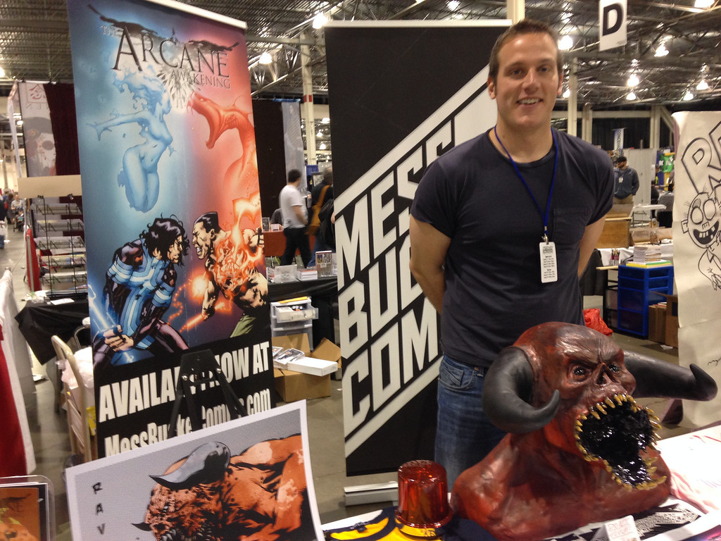 . Dominic Riggio of Arcane Awakening. Mess Bucket Comics at MotorCityComicCon. Photo by David Komer