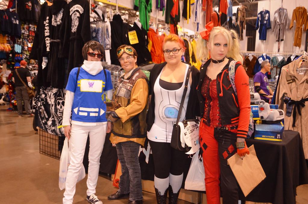 . Melanie Staffeld,, 18, Christina Kern, 17,, Amanda Lee, 19, Kat Kaszmierski, 19 all of Monroe.  Photo by Dave Herndon.