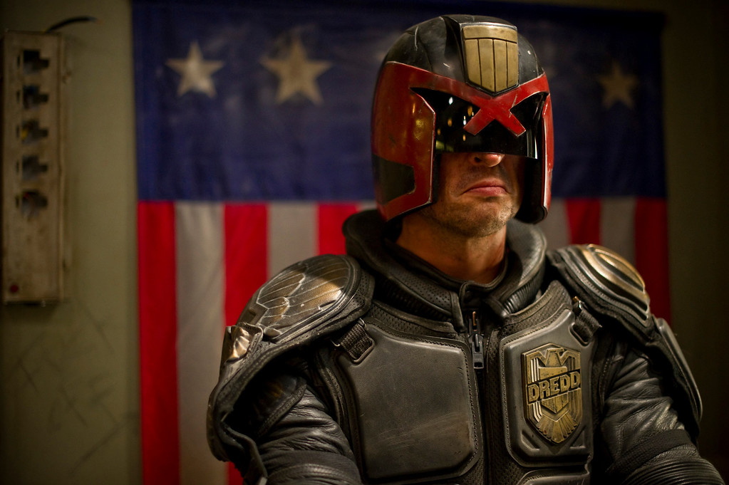 . Karl Urban stars as \'Judge Dredd\' in DREDD 3D.