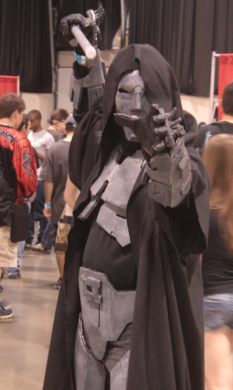 . Costumes vary wildly at the Motor City Comic Con, including this mash-up of a Star Wars Sith character. (Photo by Erica McClain)